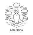 banners for depression vector image vector image
