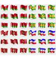Belarus Sao Tome and Principe Montenegro Khakassia vector image vector image