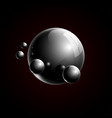 black 3d realistic glass balls composition vector image vector image