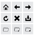 black browser icon set vector image vector image