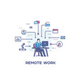 businessman is making remote work by computer vector image vector image