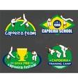 capoeira logo set vector image vector image