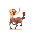centaur warrior with sword ancient mythical vector image