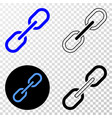chain eps icon with contour version vector image