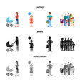 character and avatar sign vector image