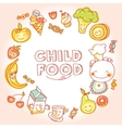 Child and baby food kids menu with colorful vector image vector image