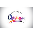 chisinau welcome to message in purple vibrant vector image vector image