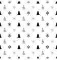 christmas new year seamless pattern with vector image