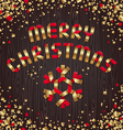 christmas - red gold paper snowflake and greeting vector image vector image
