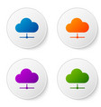 color network cloud connection icon isolated on vector image