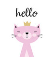 cute kitty card vector image vector image