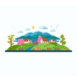 Eco landscape Spring and summer vector image vector image