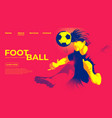 football player hit goal with head vector image vector image