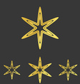Golden line star logo design set vector image vector image