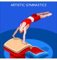 Gymnastics Vault 2016 Summer Games 3D vector image vector image