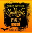 halloween party invitation banner vector image vector image