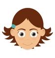 happy girl icon vector image vector image