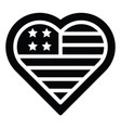 heart shaped usa flag united state independence vector image vector image