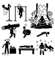 hermit extreme physical and mental training stick vector image vector image