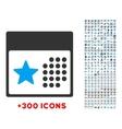 Holiday Calendar Icon vector image