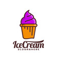 ice cream logo ice cream emblem design food logo vector image