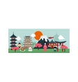 Japan poster scenery banners concept culture vector image