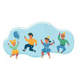 kids jumping on white background vector image vector image