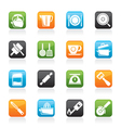 kitchen gadgets and equipment icons vector image