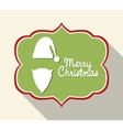 Label icon Merry Christmas design graphic vector image vector image