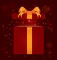 magic light gift box vector image vector image