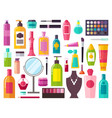 make up collection of items vector image