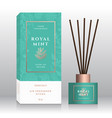 mint branch home fragrance sticks abstract vector image vector image