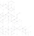 modern line art pattern with connecting lines vector image
