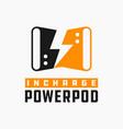 modern power bank logo vector image vector image