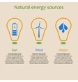 Natural energy sources vector image vector image