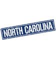 north carolina blue square stamp vector image