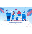 overweight and obesity problem flat banner vector image