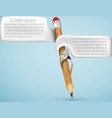 Pencil with bubbles for text vector image vector image