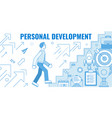 personal development vector image