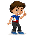 Philippines boy pointing a finger vector image vector image