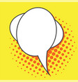 pop art speech bubbles vector image vector image