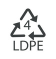 recycle arrows triangle plastic recycling symbol vector image