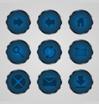 round button icons vector image