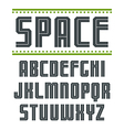 Sans serif font in sport style vector image vector image