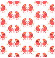 seamless pattern with cartoon kidney characters vector image vector image
