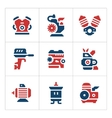 Set color icons of motor and engine vector image vector image