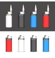 Set of lighters vector image