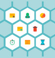 set of management icons flat style symbols with vector image vector image