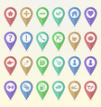 Set of map pointer icons vector image vector image