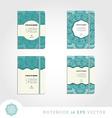 Set of notebooks with mandala background vector image